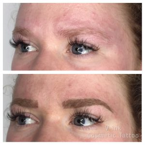 before and after Eyebrow Tattoo Melbourne