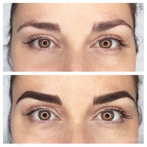 Before and after Eyebrow Tattoo, Combination Brow